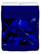 Dark Blue Leaves Duvet Cover