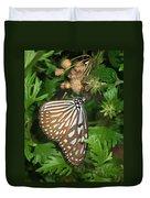 Dark Blue Tiger Butterfly Duvet Cover