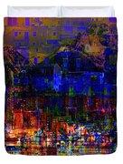 Dark City Lights Cityscape Duvet Cover