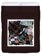 Dark Colored Blocks Patchwork Quilt  Duvet Cover