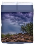 Dark Desert Skies  Duvet Cover