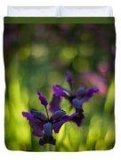 Dark Irises Duvet Cover