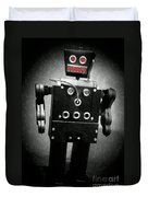 Dark Metal Robot Oil Duvet Cover