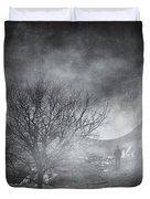 Dark Night Sky Paradox Duvet Cover by Taylan Apukovska