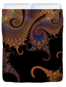 Dark Paisley Tails Duvet Cover