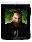 Dark Portrait Duvet Cover
