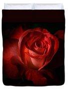 Dark Red Rose Duvet Cover