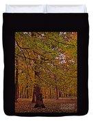 Darker Textured Autumn Trees Duvet Cover