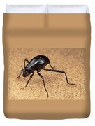 Darkling Beetle Bends Down To Drink Dew Duvet Cover