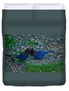 Darling I Have To Tell You A Secret-sweet Stellar Jay Couple Duvet Cover