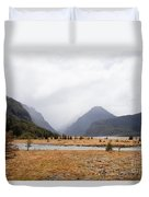 Dart River Valley Rain Clouds Mt Aspiring Np Nz Duvet Cover