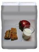 Date Squares - Snack - Dessert - Milk Duvet Cover