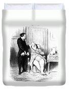 Daumier: Doctor Cartoon Duvet Cover