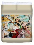Dave Matthews Shotgun Duvet Cover by Joshua Morton