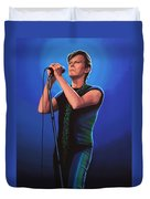 David Bowie 2 Painting Duvet Cover