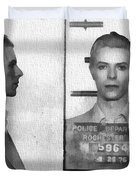 David Bowie Mug Shot Duvet Cover
