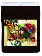 David Bowie Original Painting Print Duvet Cover