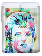 David Bowie - Watercolor Portrait.6 Duvet Cover