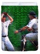 David Cone Yankees Perfect Game 1999 Zoom Duvet Cover