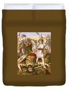 David Slaying Goliath Duvet Cover