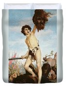 David Victorious Over Goliath Duvet Cover