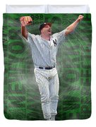 David Wells Yankees Perfect Game 1998 Duvet Cover
