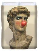David With Makeup And Clown Nose 1 Duvet Cover