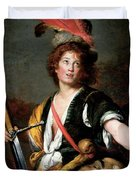 David With The Head Of Goliath, C.1636 Oil On Canvas Duvet Cover
