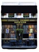 David's Pub Duvet Cover
