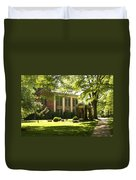 Davidson College Old Well And Philanthropic Hall Duvet Cover