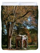 Davidson College Old Well In Autumn Duvet Cover