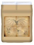 Davinci's Wings Duvet Cover