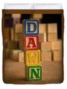 Dawn - Alphabet Blocks Duvet Cover
