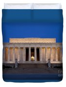 Dawn At Lincoln Memorial Duvet Cover
