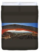 Dawn At Mesa Arch Canyonlands Utah Duvet Cover