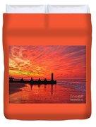 Dawn At The Beach Duvet Cover