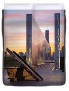 Dawn At The Empty Sky Memorial Duvet Cover
