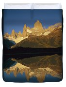 Dawn Fitzroy Massif Reflection Patagonia Duvet Cover