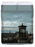Dawn In Edinburgh Duvet Cover