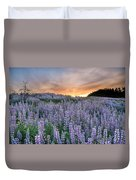 Dawn Of Lupine Duvet Cover