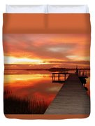 Dawn Of New Year Duvet Cover