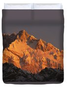 Dawn On Kangchenjunga Talung Duvet Cover