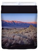 Dawn Over Death Valley Duvet Cover