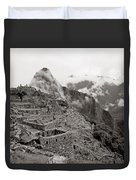 Dawn Over Machu Picchu Duvet Cover