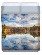 Dawn Reflection Of Fall Colors Duvet Cover