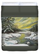 Dawning Of A Winter Day Duvet Cover