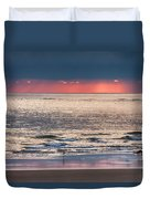 Dawns Red Sky Reflected Duvet Cover