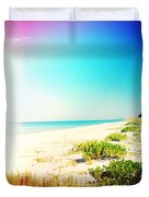 Day At The Beach Photography Light Leaks Duvet Cover