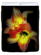 Day Lily On Black Duvet Cover