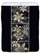 Day Lily Triptych Duvet Cover by Sarah Loft